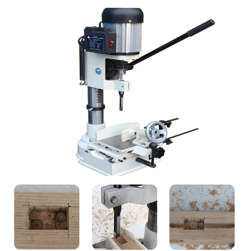Woodworking Mortising MachineTenon Machine Carpentry Groover Drilling Hole Tenoning Tool Small Table Drilling Tool MK361A