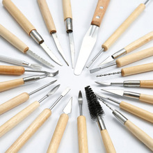 30Pcs/set Clay Sculpting Tools Pottery Carving Tool Set – Includes Clay Color Shapers, Modeling Tools & Wooden Sculpture Knife