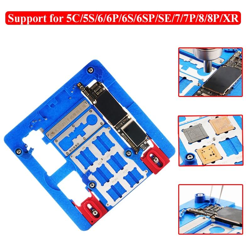 Motherboard PCB Titular Jig Fixação da Estação de Trabalho para o iphone XR 8 7 6 5S Placa Lógica A9 A10 A11 A12 IC Chip De Ferramentas De Reparação