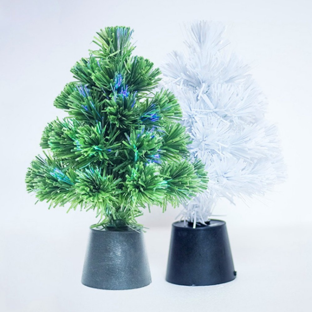 mini usb fiber christmas tree christmas decoration 30cm pvc diy christmas tree desktop home decor christmas decoration kids gif in trees from home garden