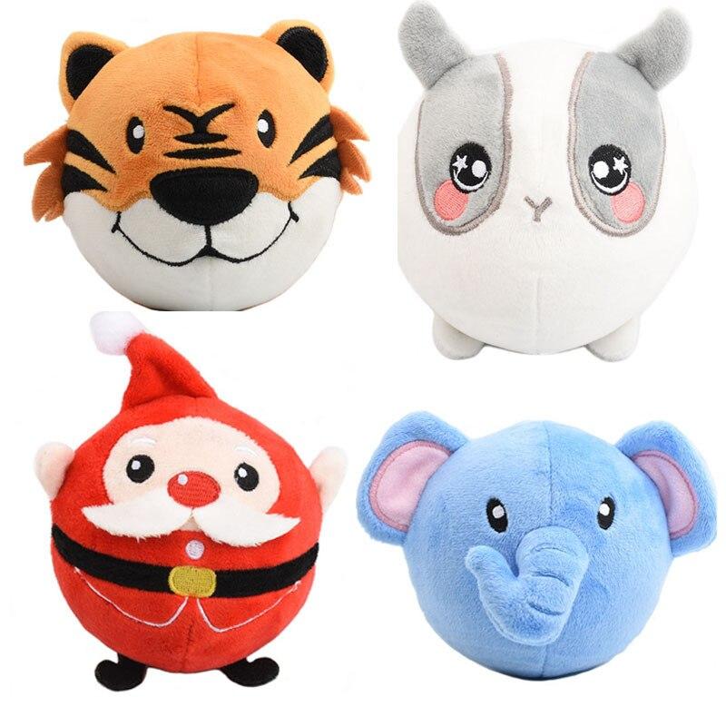 Funny Sweetie Animal Plush Toy Elephant Monkey Dog Santa Claus Stuffed Dolls Plush Squeeze Squishy Slow Rising Squeezamals 10cm 4