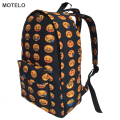 Hottest Full Printed Emoji Canvas Backpack Kids School Bags Emoji Bags H
