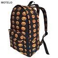 Más caliente Completo Impreso Bolsas de Lona Mochila Mochilas Escolares Los Niños Emoji Emoji H
