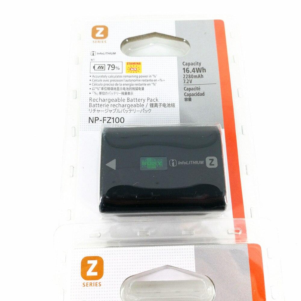 Batterie de caméra NP-FZ100 NP FZ100 pour Sony A7C A9 II / A7R IV / A7R III / A7S3 / A7 III / ILCE-9 ILCE9 ILCE-7RM3 ILCE-7M3 A6600
