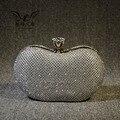 Большой Камень Кристалл Женщины Сумочка Кошелек Роскошный Полный Горный Хрусталь Вечерние Сцепления Сумка Макияж Мешок Горный Хрусталь Сцепления Мешок