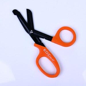 EDC military regulations unique triangle first aid with fine teeth EMT medical scissors outdoor scissors umbrella rope scissors