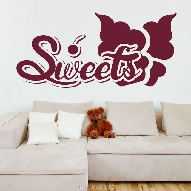sweets cherry ice cream quote wall art sticker decal wall art home