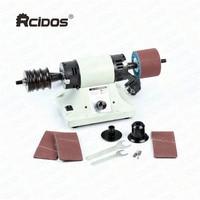 Кожа приработки машины, RCIDOS настольный мини кожа край шлифовальный станок, растительного дубления кожи сбоку полировщик, 220 В/110 В