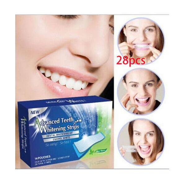 28 Pcs New Teeth Whitening Strips Gel Care Oral Hygiene Clareador Dental Bleaching Tooth Whitening Bleach Teeth Whiten Tools