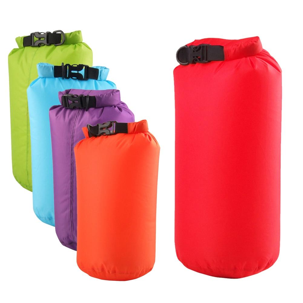 8L Ultralight Waterproof Rafting Bag Dry 5 Colors Outdoor Swimming Nylon Kayaking Storage Drifting Bag  For Camping Hiking