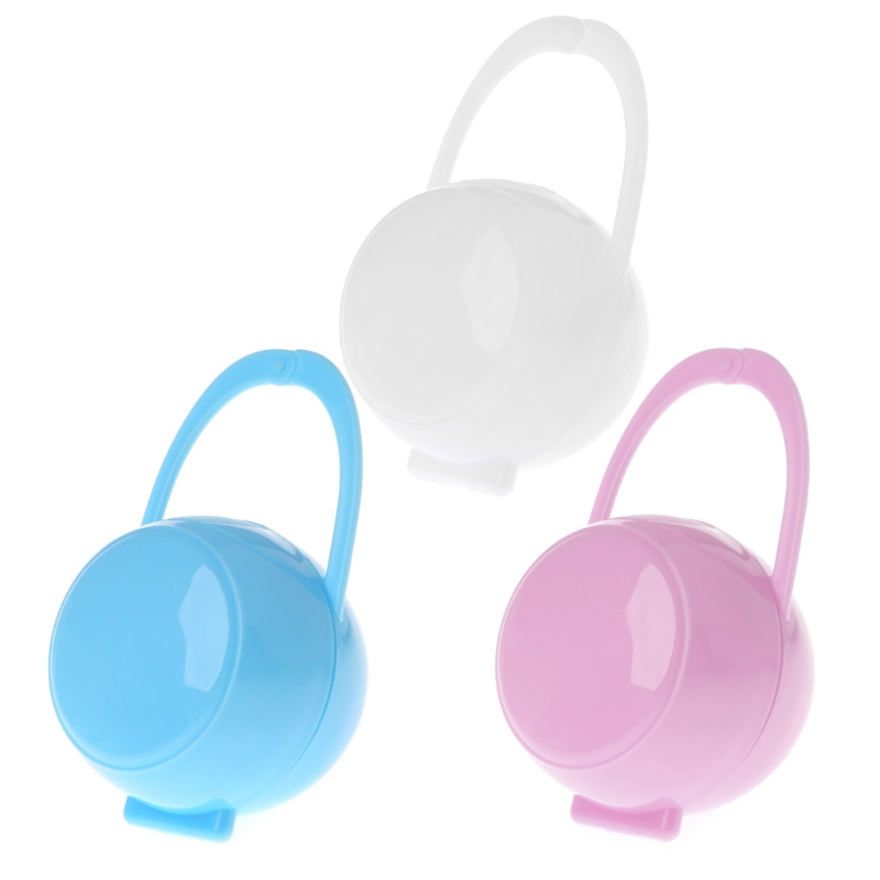 Portable Baby Boy Girl Infant Pacifier Nipple Cradle Case Holder Box Unisex New