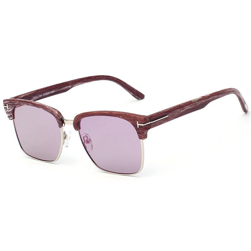 Novo Metade Quadro Óculos De Sol Mulheres Homens Marca Designer Logo Praça  Retro Vintage Mirrror Polarizada UV400 Óculos de Sol Com Caixa de Óculos c9ae0266a4