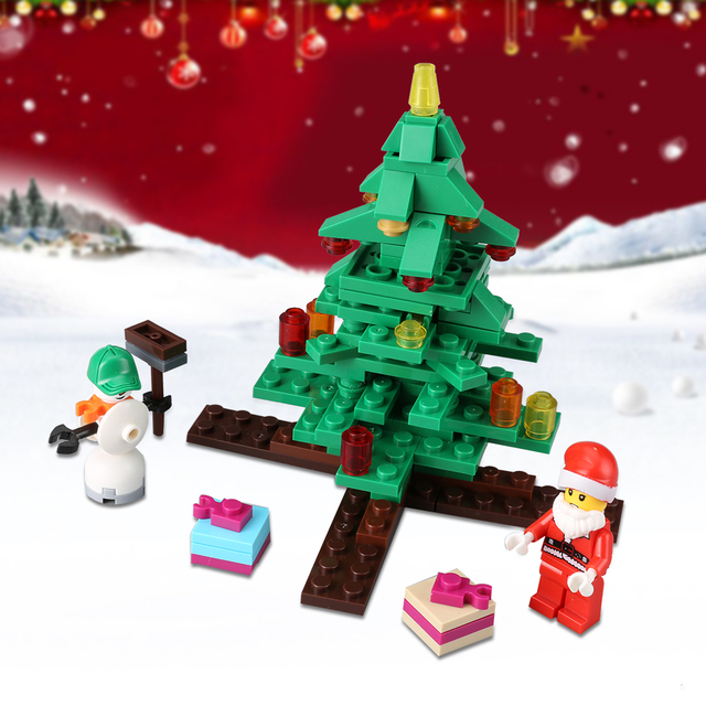 jjrc 936pcs christmas brick blocks kit with an assembly tool diy christmas village cute christmas decoration - Christmas Decoration Kits