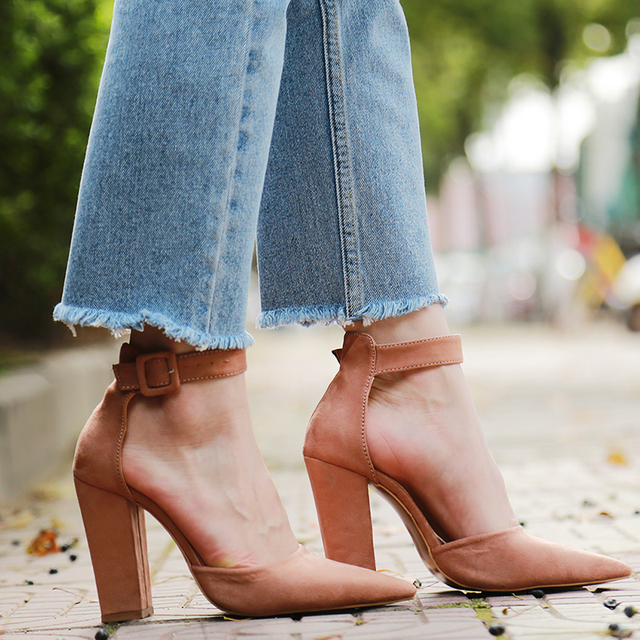2020 Sexy Classic High Heels Women's Sandals Summer Shoes Ladies Strappy Pumps Platform Heels Woman Ankle Strap Shoes 4