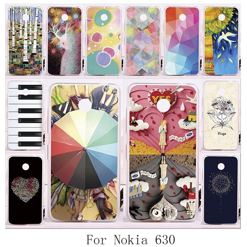 TAOYUNXI Hard Plastic Soft TPU Mobile Phone Cover For Nokia Lumia 630 DS Dual SIM RM-978 N630 3G RM-976 RM-977 RM-974 Cases