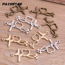 PULCHRITUDE 10pcs 33*18mm Three Color Love Charms Heartbeat Connector Jewelry Making DIY Handmade Craft DIY 4B1507 татуировка переводная heartbeat