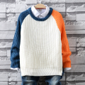 New Arrival Kids Sweater 2016 Autumn and Winter Children Pullover O-neck Solid Color Mandarin Duck Sleeves Sweaters Boys