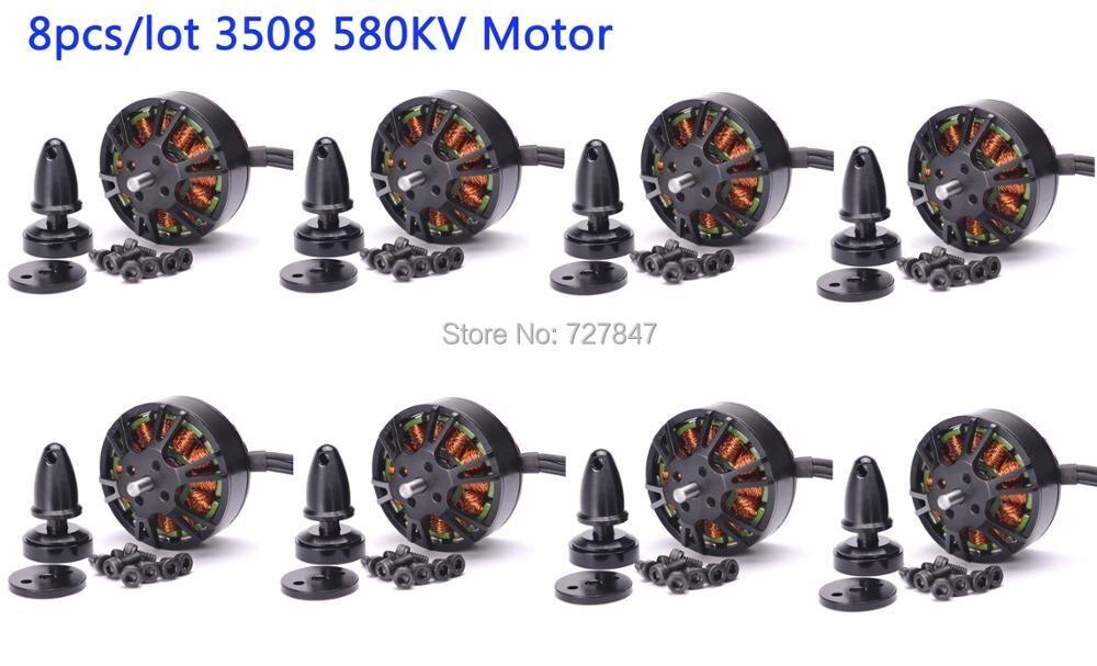 8pcs/lot High quality 3508 580KV 3508 Brushless Motor For RC Multirotor Quadcopter Hexa Drone ZD550 ZD850