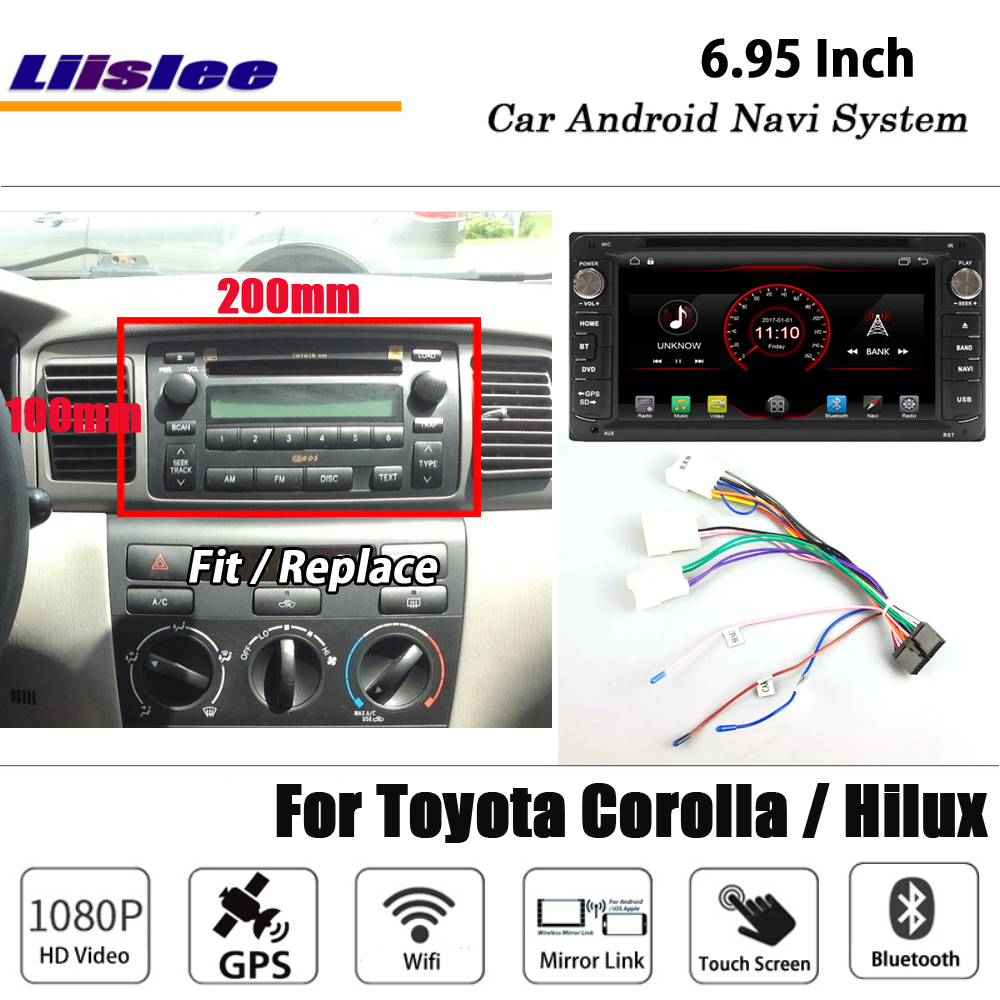 Liislee Android 8.1 For <font><b>Toyota</b></font> <font><b>Corolla</b></font> / Hilux Stereo Car Radio Video BT Wifi Carplay GPS Navi Map Navigation System <font><b>Multimedia</b></font> image