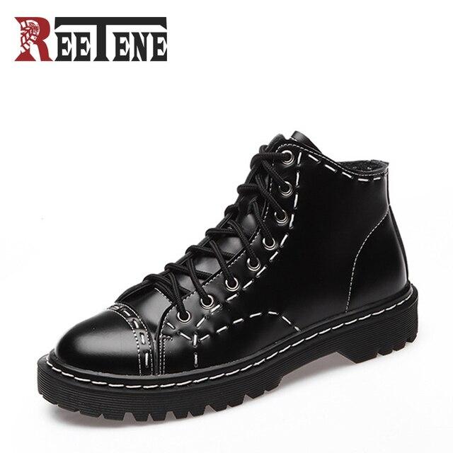€ 64.51 |Botas de Cuero genuino De las Nuevas Mujeres Del Invierno Del Otoño Ankie Tendencia Británica Con Cordones Mujer Martin Botas Mujer Zapatos