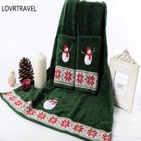 LOVRTRAVEL 100% Cotton Cartoon Snowman Towels Set Towel Face Towels Bath Towel For Adults Washcloths 64*127 cm