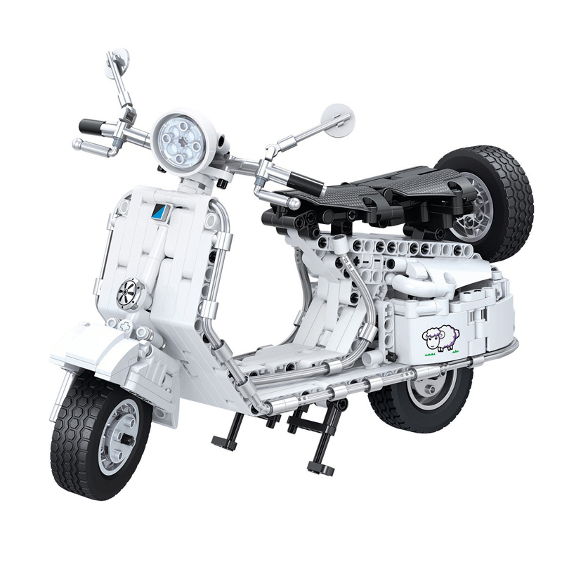 7067 534pcs Technic Pedal Motorcycle Motorbike Moto Building Block DIY Educational Bricks Toys for Children Great Gift aiboully 7061 550pcs technic motorbike motorcycle car bicycle building bricks blocks toys for children gift