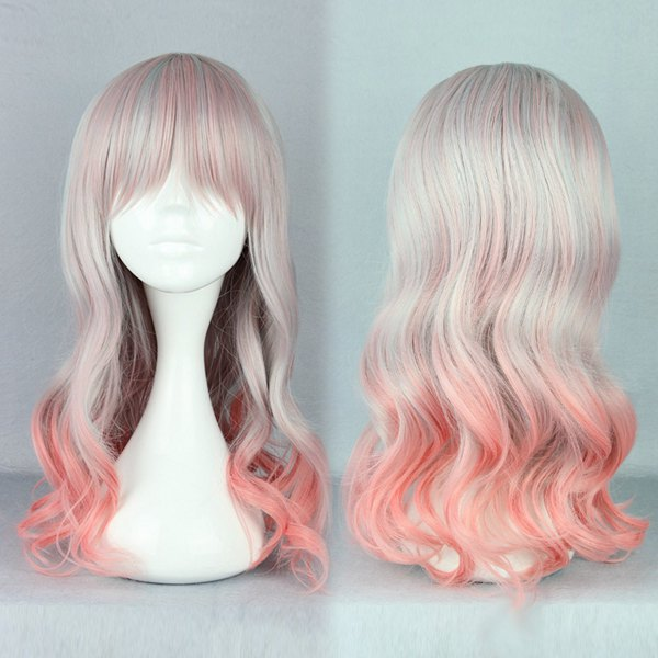 MCOSER Hot Selling 55cm Pink Ombre Wig Long Curly Synthetic Lolita Zipper  Manga Cosplay Hair Wig on Aliexpress.com  32a57e2f5820