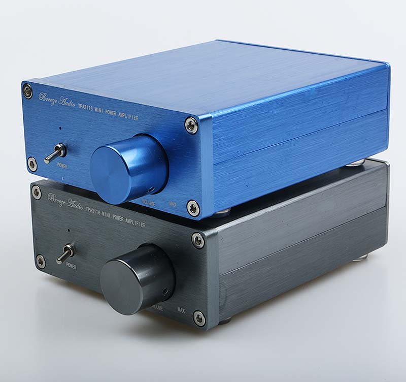 NEUE Brise Audio HiFi Klasse 2,0 Audio Stereo Digital Power Verstärker TPA3116 Erweiterte 2*50W Mini Startseite Aluminium gehäuse amp