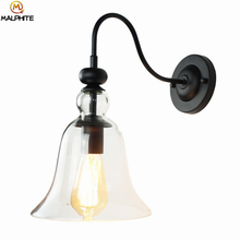 American Minimalist Wall Lamp Fashion Bedroom Bedside Living Room Light Restaurant Home Decorative Color Glass