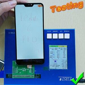 """Image 3 - Wyświetlacz LCD 5.84 """"dla Xiao mi Red mi 6 Pro montaż digitizera ekranu dotykowego rama szklana folia dla Xiao mi mi A2 Lite LCD"""