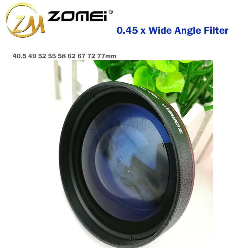 Prix pour ZOMEI Ultra Mince Mince 67mm 0.45 x Grand Angle Filtre Lentille Sans Coin Sombre Pour 18-105mm 18-135mm 18-55mm Dslr