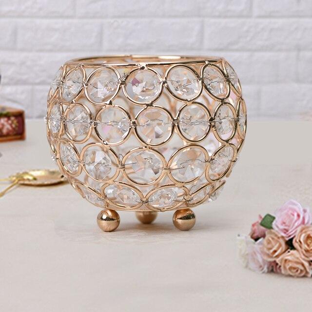 10pcs Crystal Votive Tealight Candle Holders Decorative Lanterns for ...