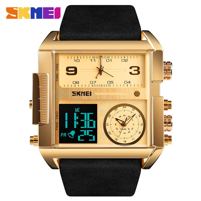 Mens Watches To Luxury Brand Men Leather Sports Watches SKMEI Mens Quartz LED Digital Clock Waterproof Military Wrist Watch MenMens Watches To Luxury Brand Men Leather Sports Watches SKMEI Mens Quartz LED Digital Clock Waterproof Military Wrist Watch Men