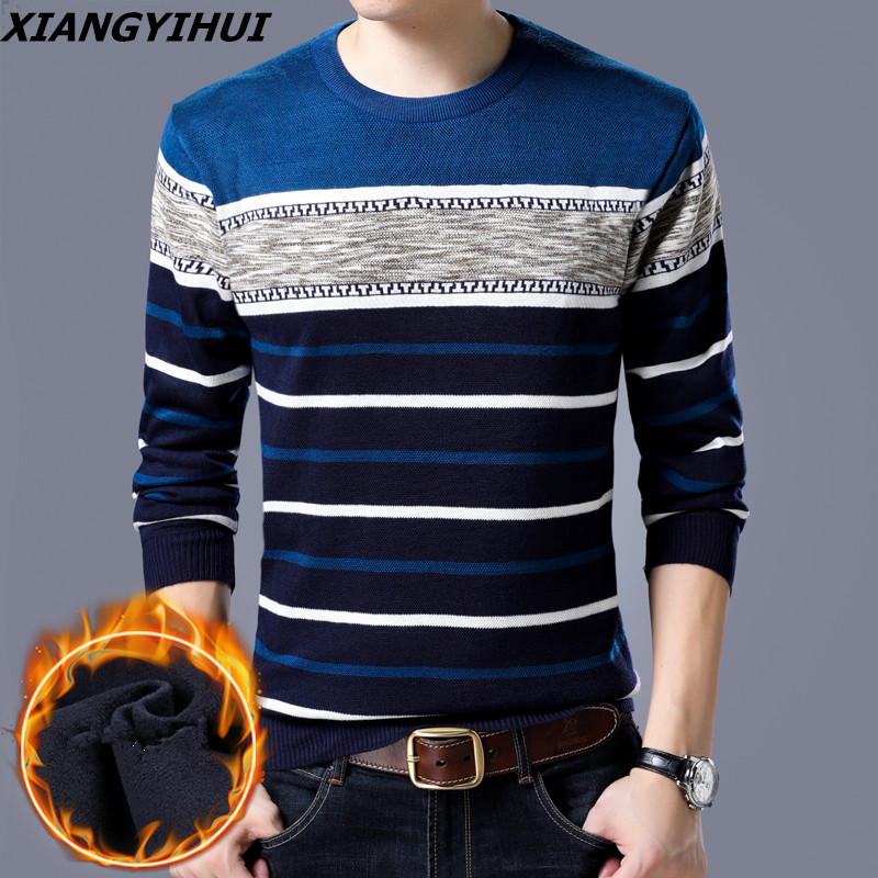 2018 Cashmere Striped Men Pullover Oodji Sweaters Masculino Male Casual Christmas Sweater Knitwear Plus Size Shirt Clothing
