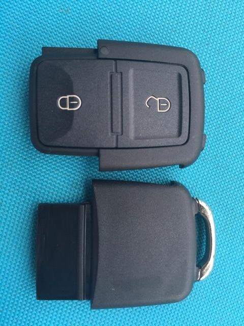 Funda para llave a distancia con botón zeudeir 2 2 + 1 3 + 1 4 Sin logo para VW Golf 4 5 Passat b5 b6 polo Touran para asiento para Skoda llave de coche