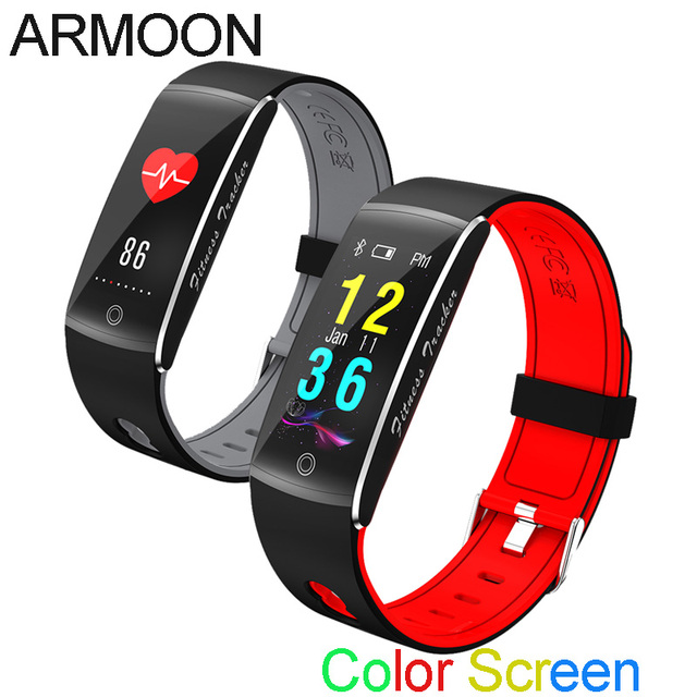 US $21 81 49% OFF|Smart Band F10 Sleep Monitor Fitness Tracker Heart Rate  Smart Bracelet Blood Pressure Watch Waterproof Color Screen Sport Band-in