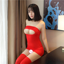 Sexy Women Ice Silk Shiny Hollow Tight Pencil Cute Dress mooth See Through Micro Mini Dress Transparent Bandage Dress Stage Wear