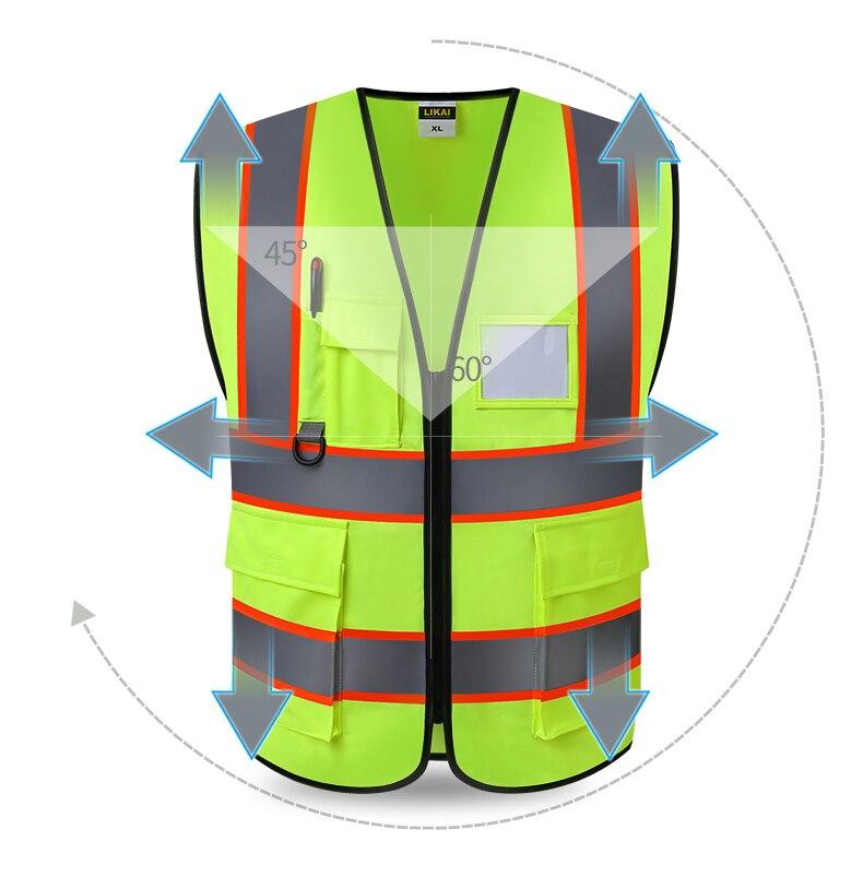 colete reflexivo colete de segurança reflexivo logotipo impressão frete grátis