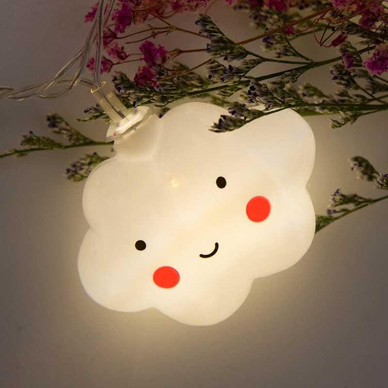 10 светодиодный Новинка облако огни 1,5 M Фея лампы светодиодный свет гирлянда для детей Спальня украшения дома Батарея питание 3 цвета