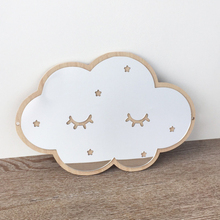 Ins Nordic wooden cloud ice cream stars cat children acrylic decorative mirror home wall decoration artwork
