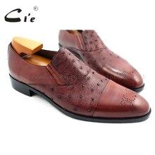 Cie/ ; мужские лоферы ручной работы на заказ из кожи страуса; цвет коричневый; туфли без задника; OS3 mackay