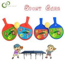 1 Paar Outdoor Sport Kinderen Speelgoed Kind Dual Tafeltennis Pingpong Racket Voor Kinderen Speelgoed Grappig Outdoor Spelletjes Kids Gift zxh