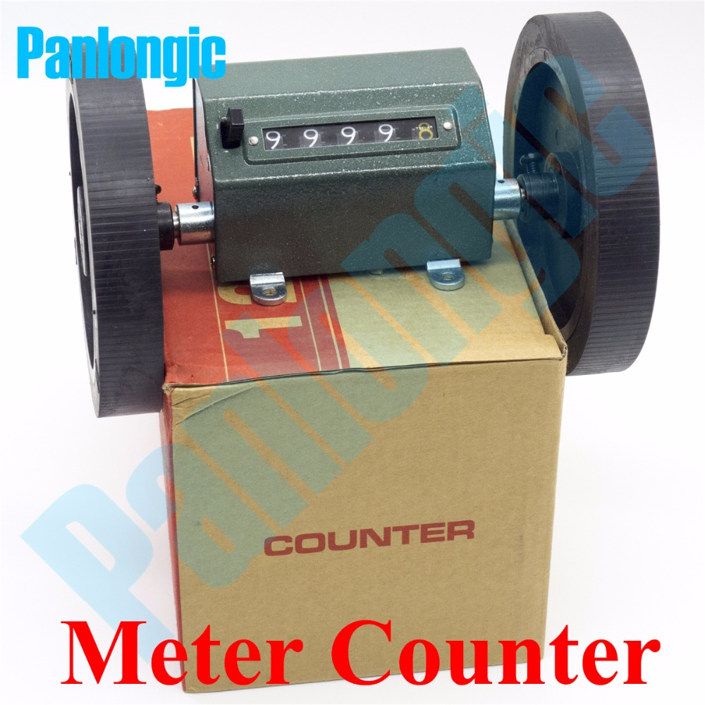 цена на Reversal Rolling Wheel Counter Meter Counter Length Measure Mechanic Counter Textile Machinery Meters Decoder