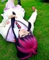 High Quality Anime Blue Exorcist Ao no Exorcist Kamiki Izumo Cosplay Wig + Free Wig Cap Free Shipping