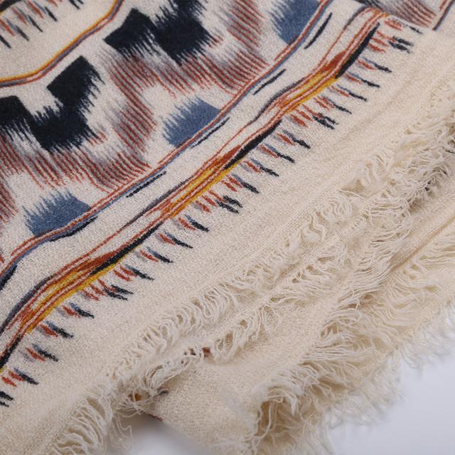 Tribal Lady Warm Scarf   Blanket Scarves