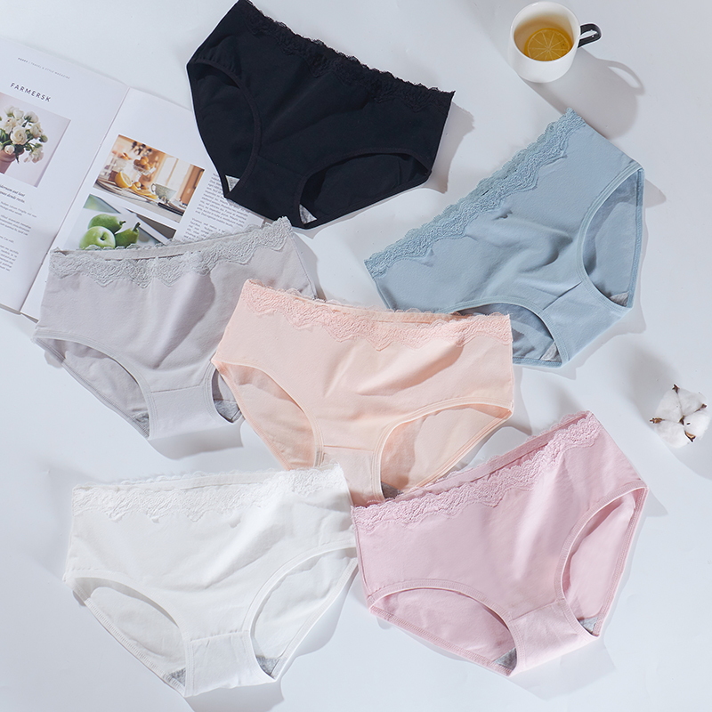 2019 briefs for women fashion sexy cotton sexy underwear girl woman   panties   Solid seamless   panties   Mid-Rise cpanties for women