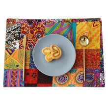32x45CM Placemat Table Pad Dishes Cup Bowl Dining Coaster For Home Kitchen Insulation Accessory dining table placemat tea coaster cute zodiac pattern melamine insulation placemat coaster cup bowl coffee pad tableware pad hot