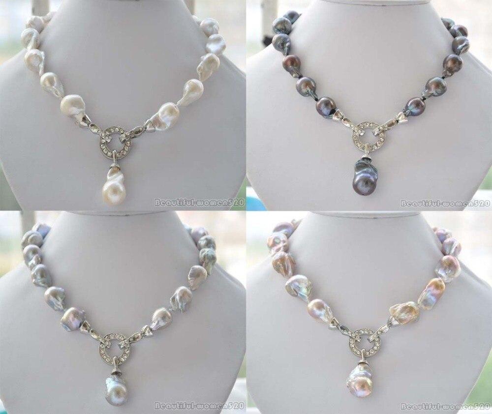 X0095 Rare 18 23mm baroque keshi Reborn necklace pendantX0095 Rare 18 23mm baroque keshi Reborn necklace pendant