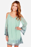 2015 Fashion Newest Beach Cover Ups Light Blue V Neck Style Women Summer Dress Off Shoulder