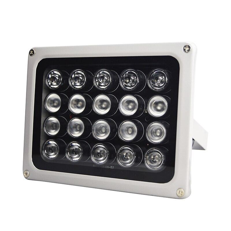 90 graus AC 220V IP65 20Pcs LED 850nm Infravermelho IR Lâmpada de Luz À Prova D' Água Visão Noturna Infravermelha CCTV Fill luz para CCTV Segurança